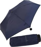 Ultra Mini Taschenschirm Damen Regenschirm Uni - navy-blau