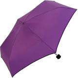 Ultra Mini Taschenschirm Damen Regenschirm Uni - lila