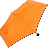Ultra Mini Taschenschirm Damen Regenschirm Uni - orange