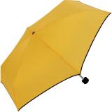 Ultra Mini Taschenschirm Damen Regenschirm Uni - gelb