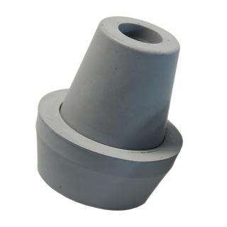 Antirutsch Krückenkapsel Stockkapsel Gummischützer mit Spikes und Schutzkappe 18 mm