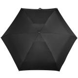 iX-brella Super-Mini-Taschenschirm - winziger Regenschirm im Etui - schwarz
