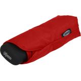iX-brella Super-Mini-Taschenschirm - winziger Regenschirm im Etui - rot