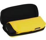 iX-brella Super-Mini-Taschenschirm - winziger Regenschirm im Etui - gelb