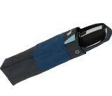 senz Taschenschirm - stabil und sturmfest - Auf-Zu-Automatik - sporty blue tracks