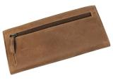 LandLeder Eco-Rindsleder Kuvertbörse 4 tlg. Brieftasche Geldbörse braun