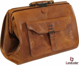 LandLeder Doc.Bag Leder Arzttasche Bügeltasche Hebammentasche