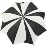 Pierre Cardin Stockschirm Damen groß stabil mit Automatik - Sunflower - schwarz-weiß