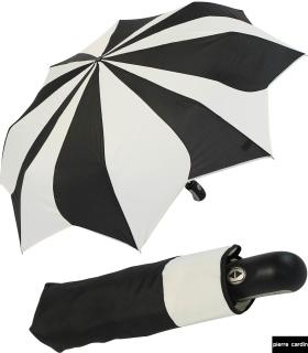 Damen Taschenschirm Pierre Cardin Auf-Zu-Automatik - Sunflower - schwarz-weiß