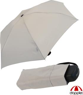 Doppler Regenschirm Damen Mini Taschenschirm Handy klein super-leicht stabil grau