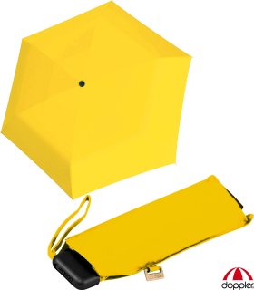 Doppler Mini Slim Damen Taschenschirm - extrem flach - uni shiny yellow