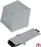 Doppler Mini Slim Damen Taschenschirm - extrem flach - uni shady grey