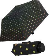 Ultra Mini Regenschirm Damen Taschenschirm Rainbow Dots