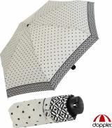 Doppler Mini XS Damen Taschenschirm klein und leicht - Nizza Dots - grau