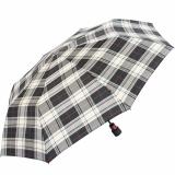 Knirps Regenschirm Fiber T1 Automatik - Sturmsicher Karo schwarz-weiß