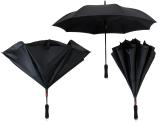 iX-brella Reverse - Automatik Regenschirm umgekehrt - umgedreht zu öffnen - schwarz-schwarz