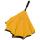 iX-brella Reverse - Automatik Regenschirm umgekehrt - umgedreht zu öffnen - schwarz-gelb