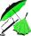 iX-brella Reverse - Automatik Regenschirm umgekehrt - umgedreht zu öffnen - schwarz-neon grün