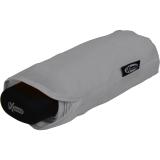 iX-brella Super-Mini-Taschenschirm - winziger Regenschirm im Etui - grau