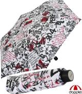 Doppler Mini Taschenschirm Havanna sturmfest leicht -...