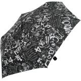Doppler Mini Taschenschirm Havanna sturmfest leicht - Graffiti - schwarz