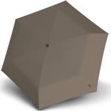 Knirps Taschenschirm TS.220 Duomatic Safety - flach, stabil und sturmfest mink