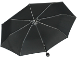 iX-brella Mini Ultra Light - Damen Taschenschirm mit großem Dach - extra leicht - schwarz