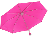 iX-brella Mini Ultra Light - Damen Taschenschirm mit großem Dach - extra leicht - neon pink