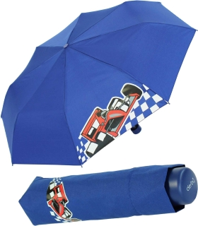 Kinderschirm Jungen Mini Taschenschirm light Kids blau - car