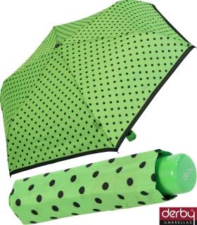 Kinderschirm Mini Taschenschirm für Jungen und Mädchen - Kids Dots - grün