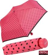 Kinderschirm Mini Taschenschirm für Jungen und Mädchen - Kids Dots - pink