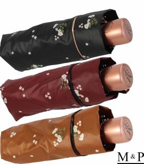M&P Damen Taschenschirm mit Auf-Zu Automatik - Floral