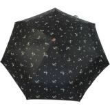 M&P Damen Taschenschirm mit Auf-Zu Automatik - Floral schwarz