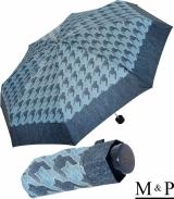 M&P Super-Mini Damen Taschenschirm klein leicht mit extra großem Dach - Jeans Pepita