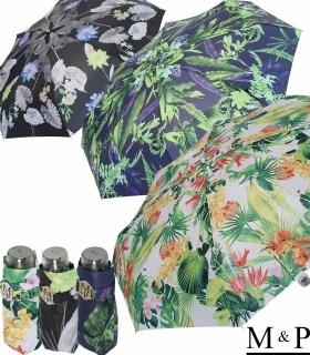M&P Super-Mini Damen Taschenschirm klein leicht mit extra großem Dach - Tropic
