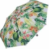 M&P Super-Mini Damen Taschenschirm klein leicht mit extra großem Dach - Tropic white
