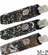 M&P Damen Taschenschirm mit Auf-Zu Automatik - Animal...