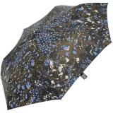 M&P Damen Taschenschirm mit Auf-Zu Automatik - Animal Print blau
