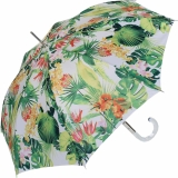 M&P Damen Regenschirm Long stabil Automatik Tropic white