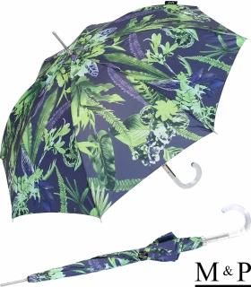 M&P Damen Regenschirm Long stabil Automatik Tropic purple