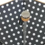 Edler Super Mini Taschenschirm Satin von PERTEGAZ klein und leicht Topo Big Dots