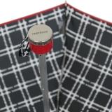 Edler Super Mini Taschenschirm Satin von PERTEGAZ klein und leicht Topo Karo