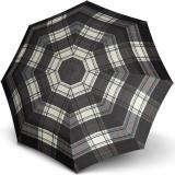Knirps Taschenschirm T.200 Duomatic - stabil und sturmfest - Check black & white