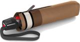 Knirps Taschenschirm T.200 Duomatic - stabil und sturmfest - Border toffee