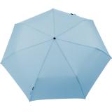 Knirps Regenschirm Slim Duomatic - klein und leicht mit Auf-Zu Automatik - sky