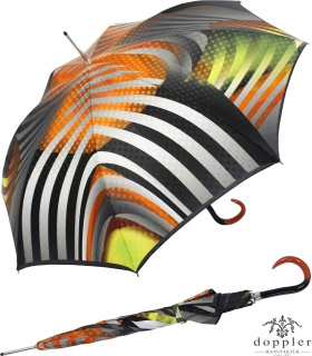 Doppler Manufaktur Regenschirm Stockschirm VIP Damen Elegance - Silver Reef