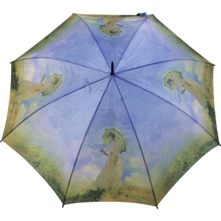 Stockschirm Kunstlerschirm Automatik Art Taifun Monet Frau Mit