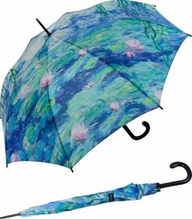 Stockschirm Künstlerschirm Automatik Art Taifun Monet - Wasserlilien