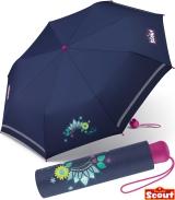 Scout Kinder-Taschenschirm mit reflektierenden Streifen...
