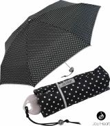 Mini Taschenschirm Damen Joy Heart klein und leicht - Cats and Dots schwarz